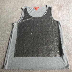 Gray, sparkling tank top